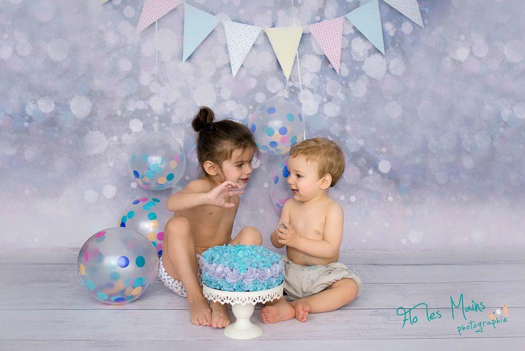 Cake smash bébé- Photographe nouveau-né Paris
