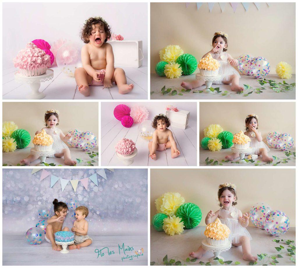 Portfolio des séances cake smash anniversaire bébé et enfant