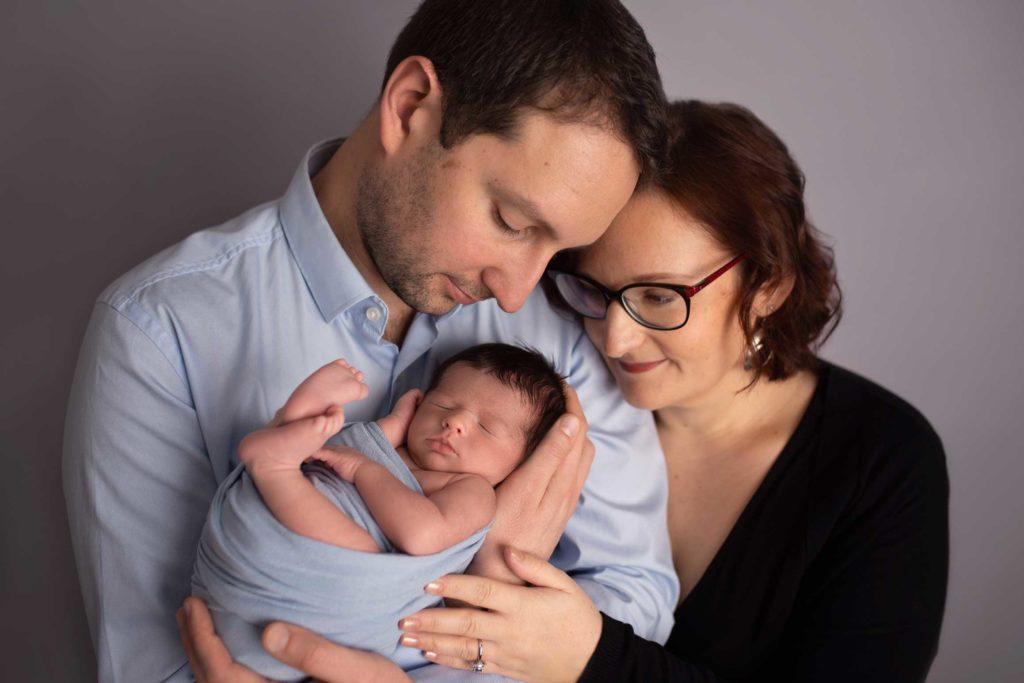 Parents bébé heureux - Photographe Paris